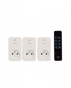 Set of 3 DiO remote controlled plugs
