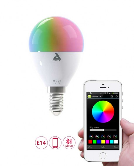 Ampoule LED connectée couleurs E14 - AwoX Mesh Technology