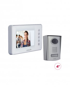 "Videodoorphone with white 4.3"" LCD screen"