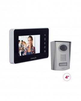 "Videodoorphone with black 4.3"" LCD screen"