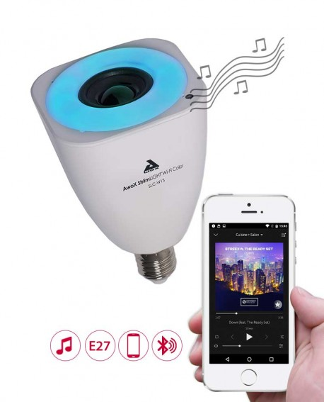 Smart LED bulb with speaker - E27 - AwoX