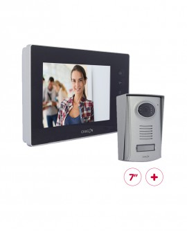 "Videodoorphone with black 7"" LCD screen (scalable)"