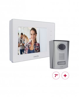 """Videodoorphone with white 7"""" LCD screen (scalable)"""