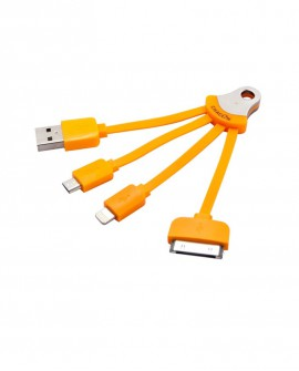 Multi-cable USB charger