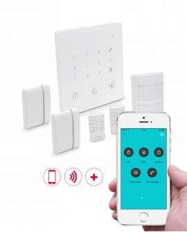 GSM Wireless alarm system with mobile app.