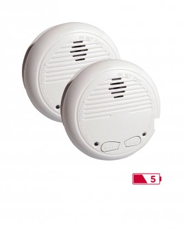 Lot of 2 smoke detectors