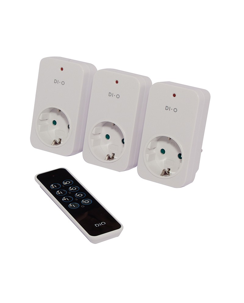 Dio Remote Controlled Plugs Appliance Switch Circuit Set Of 3