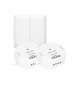 Kit Wireless wall switch + 2 on/off lighting modules