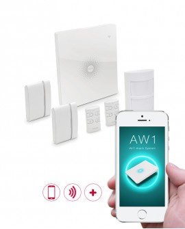 WiFi Wireless alarm system with mobile app.