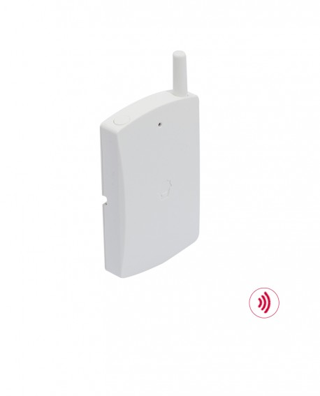 Vibration detector for wireless alarm