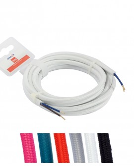 Lighting fabric cables