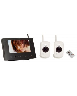 "Kit with 2 wireless cameras + 7"" LCD Screen"