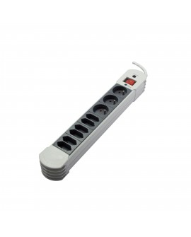 Design power strip with surge protection HiFi 6x2,5A + 3x16 with switch