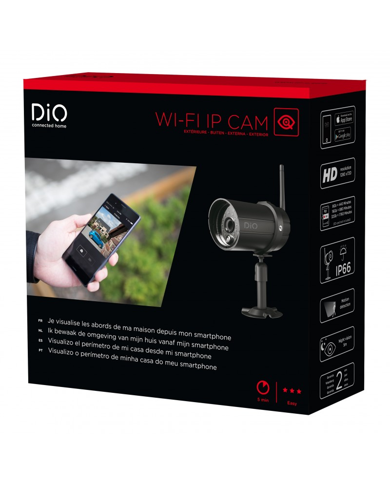 outdoor wifi security camera for home dio connected home. Black Bedroom Furniture Sets. Home Design Ideas