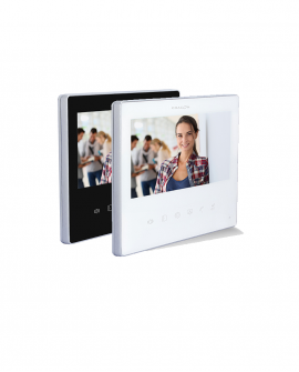 Extra screen for videodoorphone with 2 wires - white or black