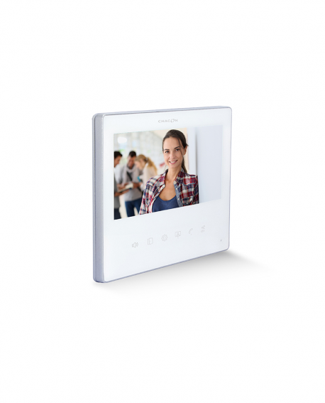 "7"" Videodoorphone with 2 wires - white or black"