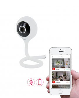 Wi-Fi camera with sound detection