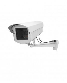 Aluminium outdoor dummy camera with LED