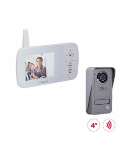 "Wireless videodoorphone with 4"" LCD screen"
