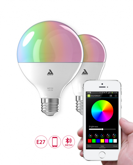 Ampoule LED connectée couleurs E27 - AwoX Mesh Technology